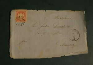 Bayern-Kreuzer-Briefst-3-Kr-Wappen-rot-Nr-15-gMR-238-Kelheim-nach-Straubing