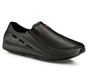 Image is loading Mozo-SHARKZ-M43812-Mens-Black-Vegan-Slip-On-