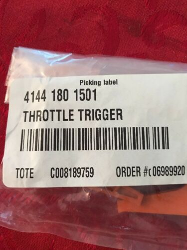Details about  /Stihl Throttle Trigger 4144 180 1501