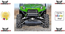 Super ATV Teryx 4 Max Ground Clearance front A-Arms Black/Green/White Aluminum