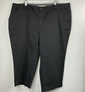 Sejour Capri Pants Plus Size 24W Black Cropped Stretch Pockets Casual NEW Z1