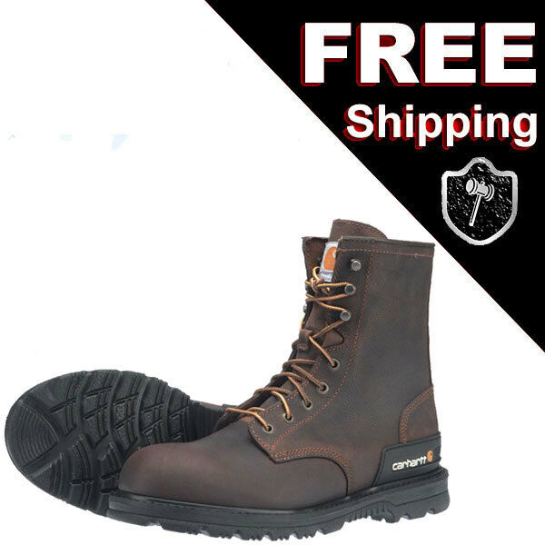 Carhartt 15 W Wide CMU8142 - 8-Inch Dark Brown Unlined Breathable Work Boot