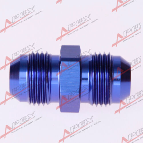 AN-16 To AN16 Aluminum Straight Union Fitting Adapter Adaptor Blue