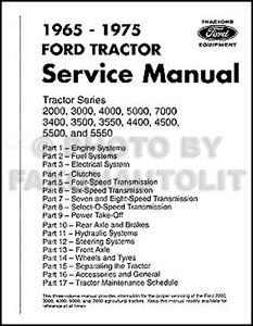 ford tractor repair shop manual 2000 3000 3400 3500 4000 4400 4500 rh ebay com