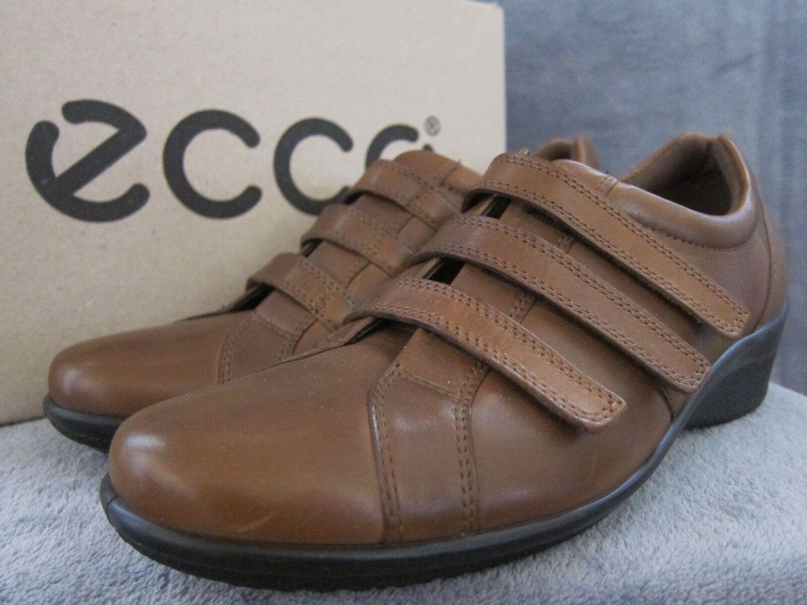 ECCO Womens Corse 3 Strap Walnut Leather Comfort shoes US 8 - 8.5 EUR 39 NWB