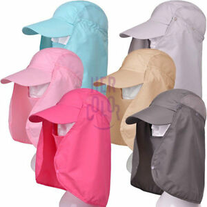 0b3272792a412 Image is loading Summer-Womens-Mens-Sun-Protection-Windproof-Fishing-Cap-