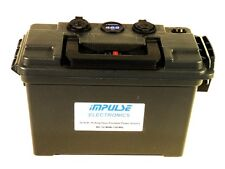12 Volt, 15 AH Power Source, Meter, LiFePO4 Battery and Charger
