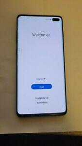Samsung Galaxy S10+ SM-G975U - 128GB - Black (Unlocked) Cracked Glass As IS