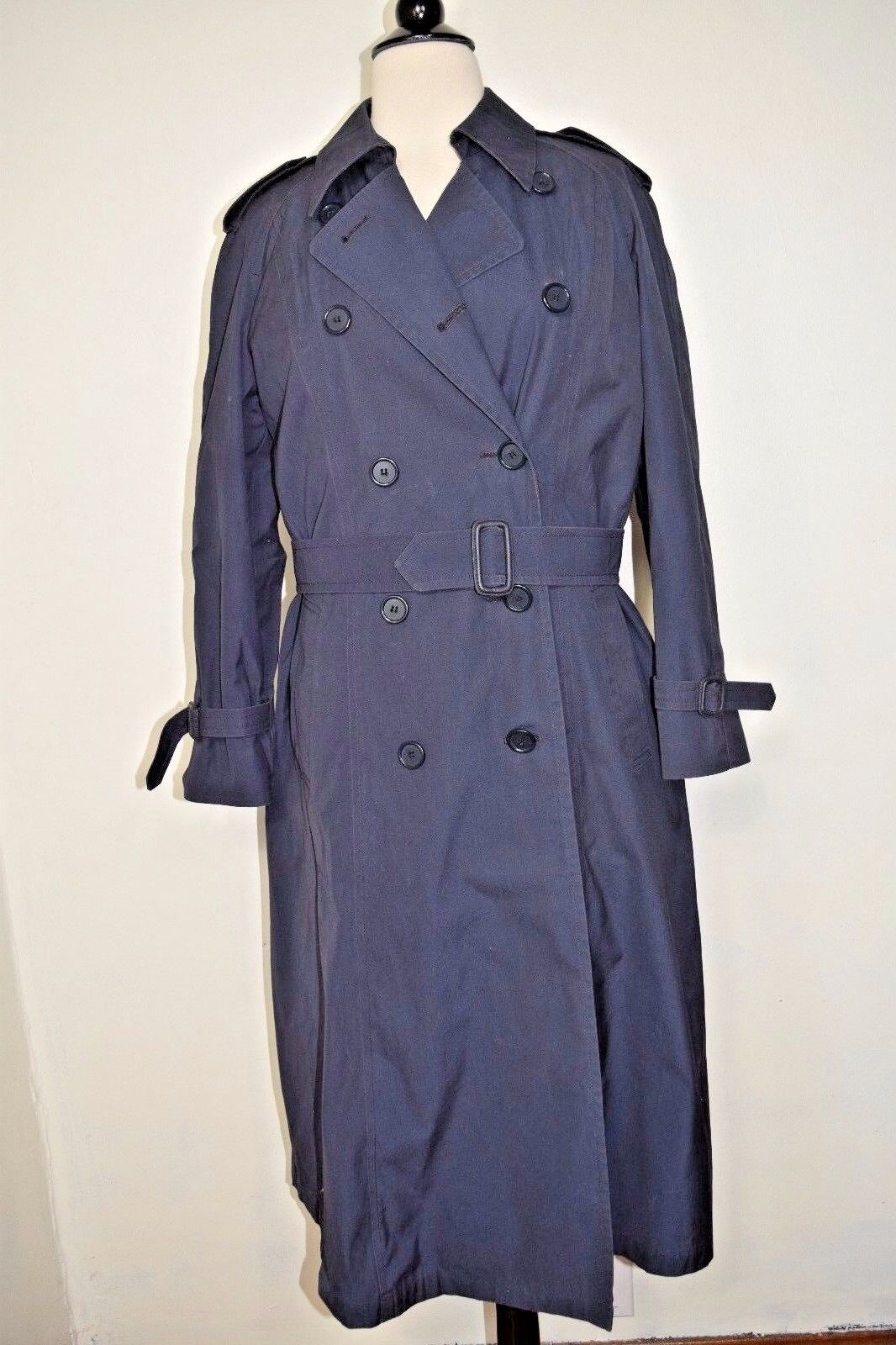 DSCP Defender Collection Trench Rain Coat Navy bluee Military Fleece Lining Sz 6R
