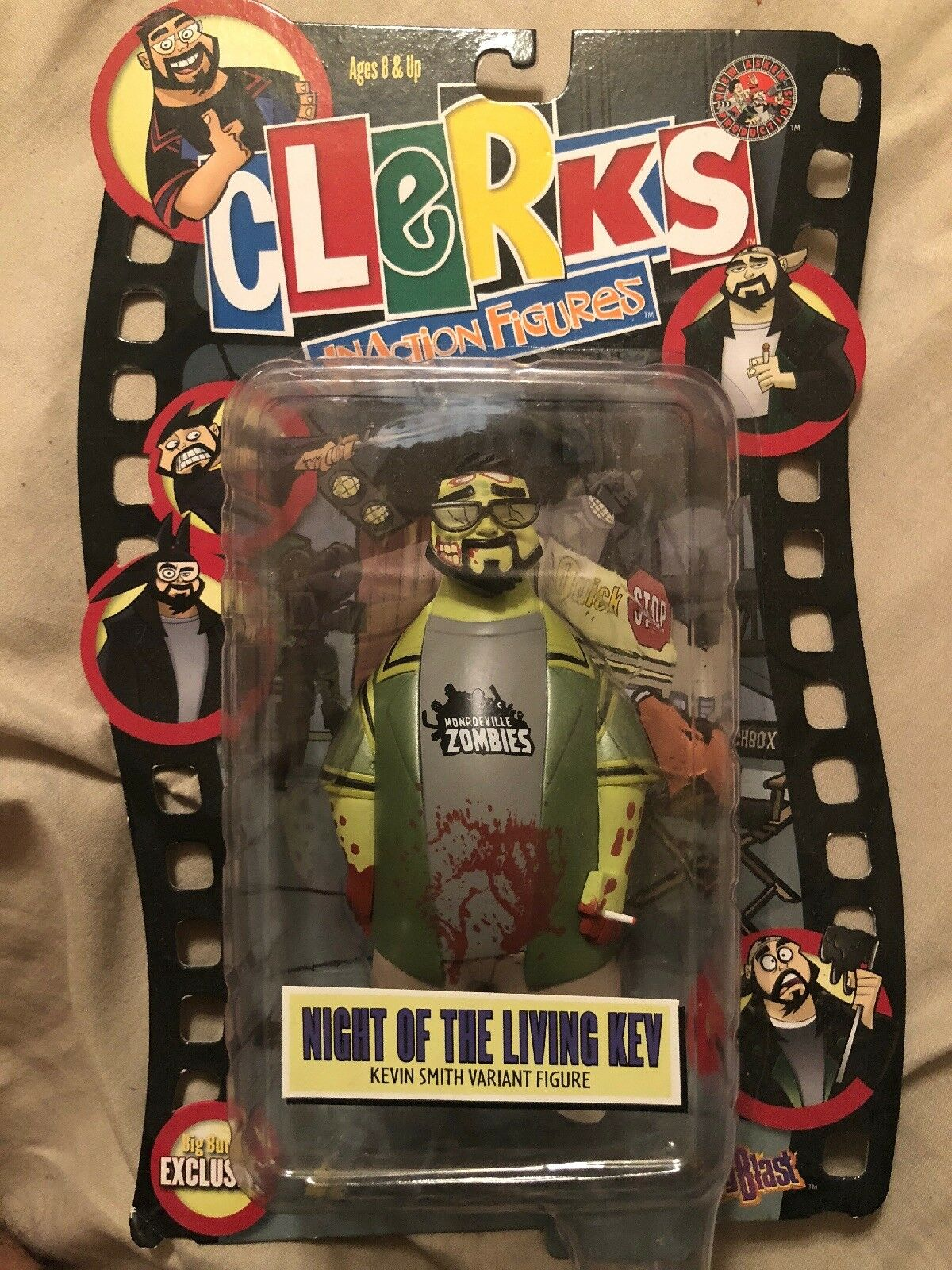 Silent Bob Clerks Action Figure Kevin Smith Night Of The Living Kev Variant