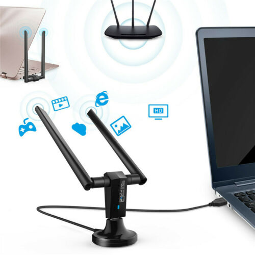 1200Mbps Dual Band 2.4GHz//5GHz Wireless USB 3.0 WiFi Adapter Antenna Hotspot