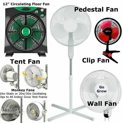 Hydroponics Clip On Box Fan Wall Fan Pedestal Cyclone Fan Variation Grow Room