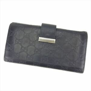 829355453a78 Image is loading Gucci-Wallet-Purse-Guccissima-Black-leather-Woman-unisex-