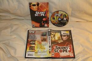 Silent-Scope-3-Playstation-2-PS2-Complete-Konami-Shooter