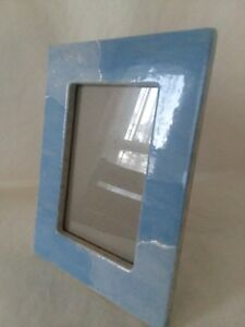 Ceramic-Glaze-Blue-Baby-Blue-Picture-Frame-3-1-2-034-x-5-1-2-034-Sea-Foam-Sky-Beach