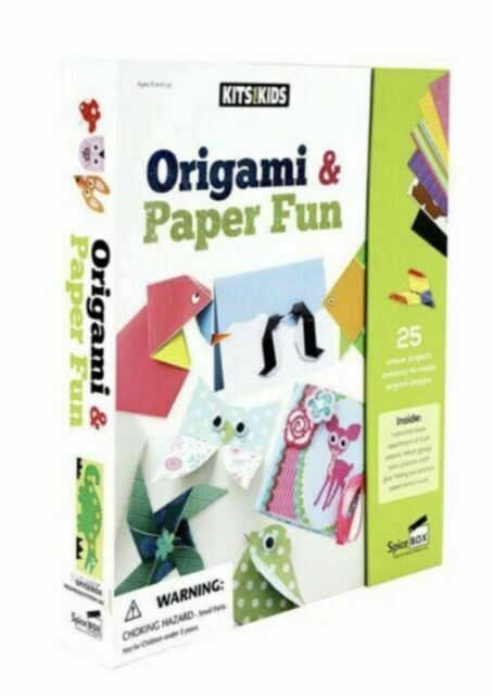 Origami Paper Craft Kits for Kids Ages 6-8,Colorful Origami Kit Easy Fold Paper for Beginner Vivid 54 Projects 55 Pages 1 Book Origami Papers for 6 7 8 Years Kids Trainning Birthday Gifts