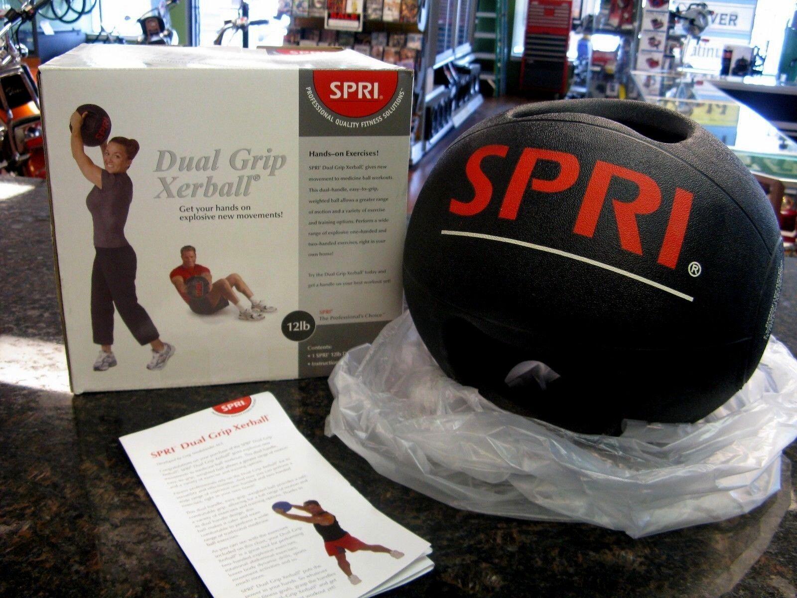 SPRI Dual Grip Xerball Medicine Ball, 12-Pound