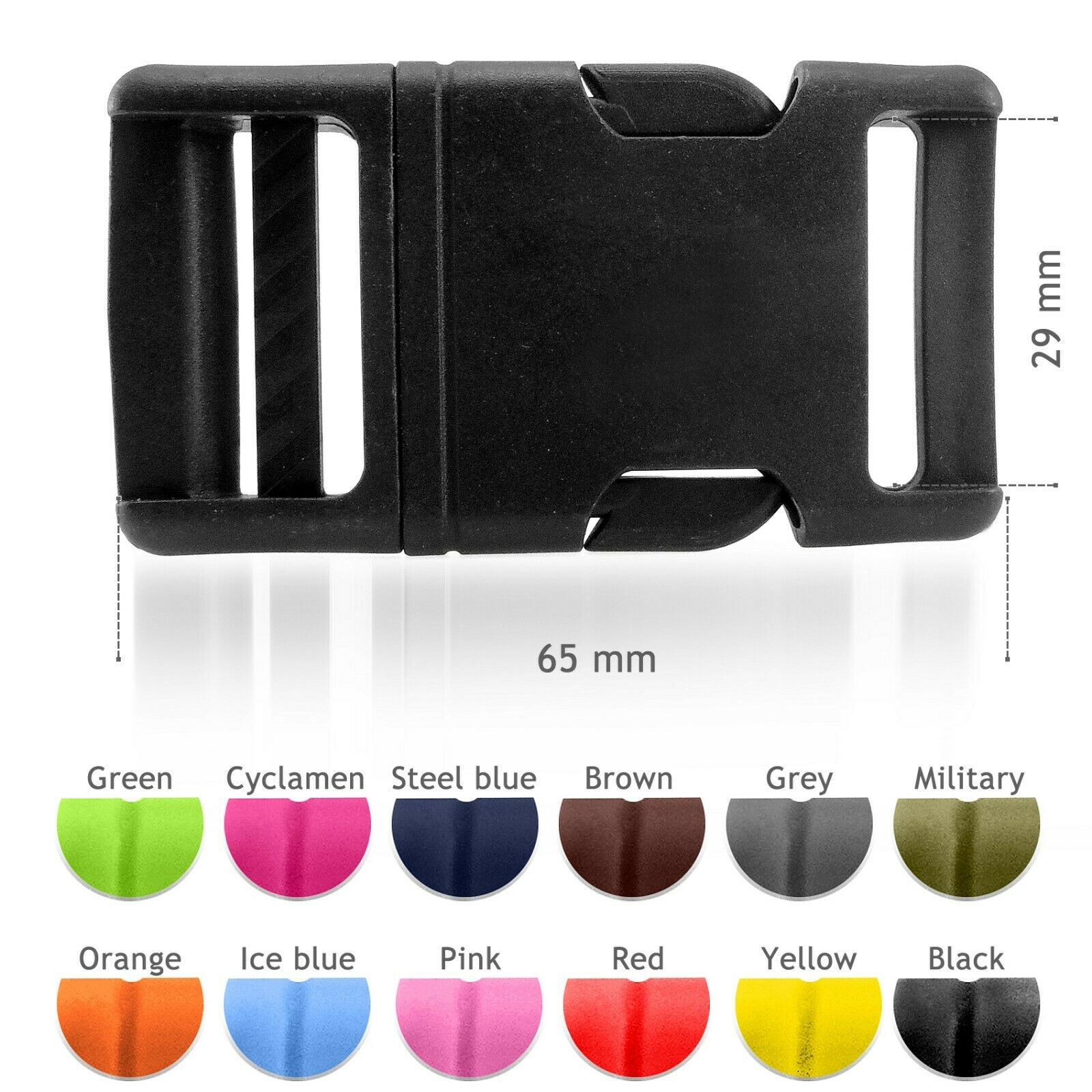 AD5 Ice Blue Plastic delrin Side Release Buckles for Webbing Bags Straps Clips 30 mm 10 pcs