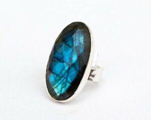 Labradorite Ring 925 Sterling Silver Ring Handmade Ring Boho Ring All Size KA-7