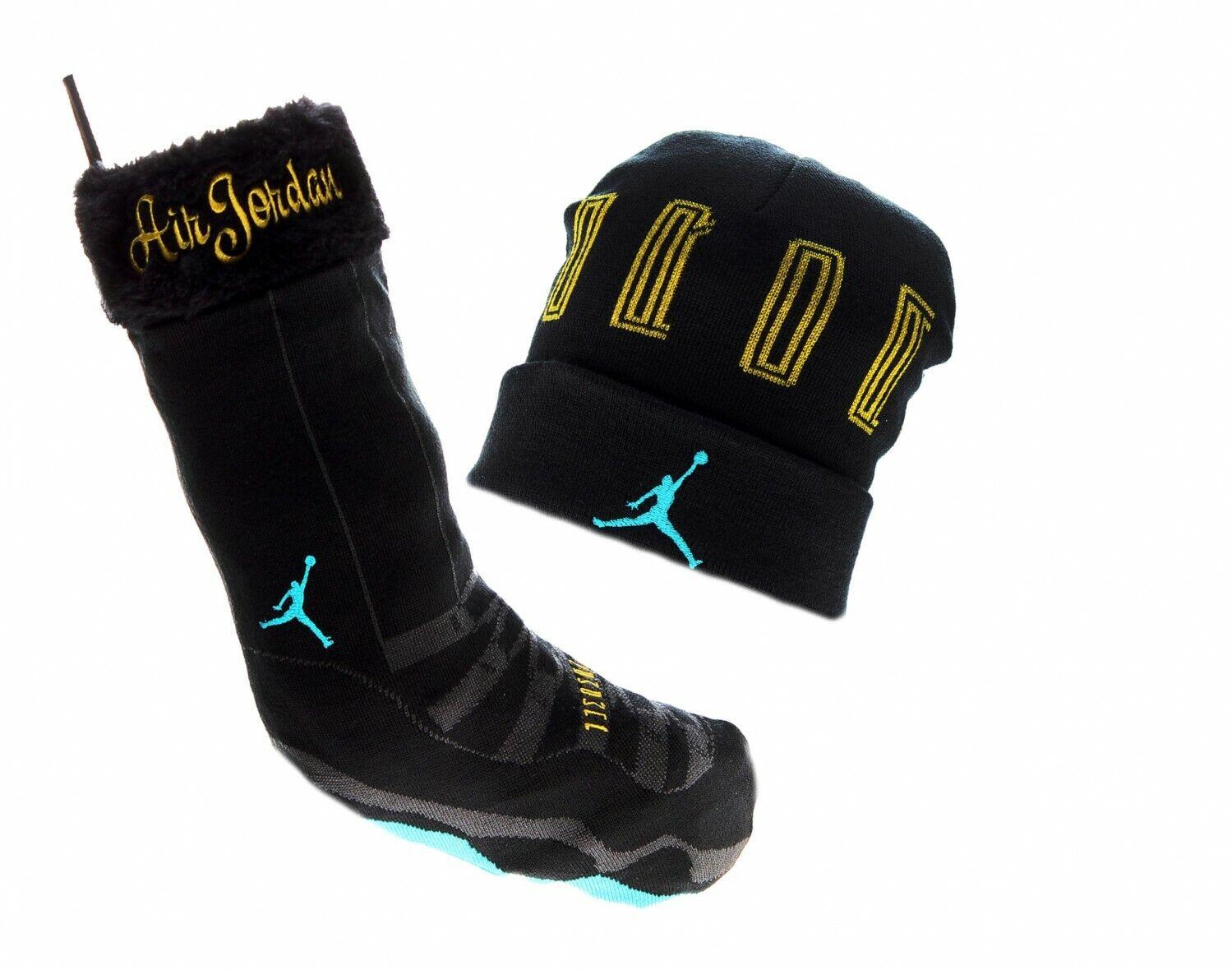 Air Jordan Retro 11 Holiday Gift Set 507949 016 Black/Blue-Gold New Adult Unisex
