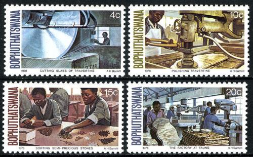 South Africa Bophuthatswana 29-32,MNH.Cutting,Polishing Semi-precious Stone,1978