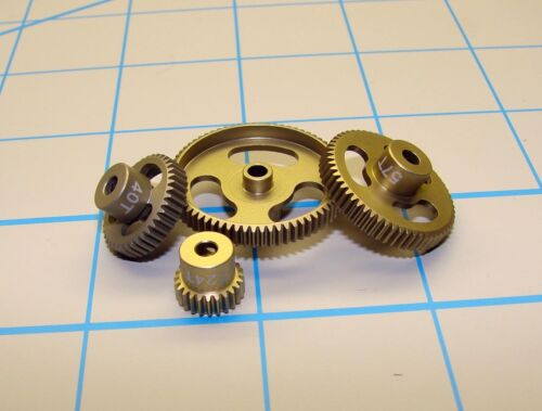 """23 Tooth CRC 64023 /""""Gold Standard/"""" Aluminum Machined 64 Pitch Pinion Gear,"""