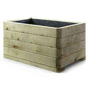 Holzfee Pflanzkasten 100 X 50 Pflanzkubel Holz Blumenkubel Massiv