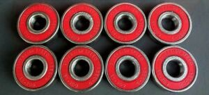 8-Pack-Abec-9-Skateboard-Skate-Bearings-longboard-scooter-inline-roller-8mm-608