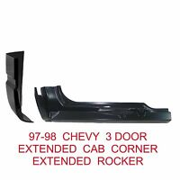 97 98 Chevy 3 Door Right Extended Cab Corner & Rocker Panel Gmc Truck 2pc Kit