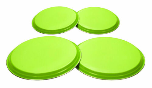 Stainless Steel a levé cover Set for Kitchen cuisiniers Protector Lime Green 4 Piece
