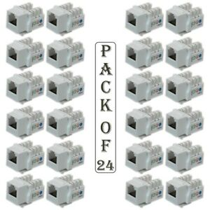 image is loading 24x-cat3-rj11-12-keystone-jack-6p6c-telephone-