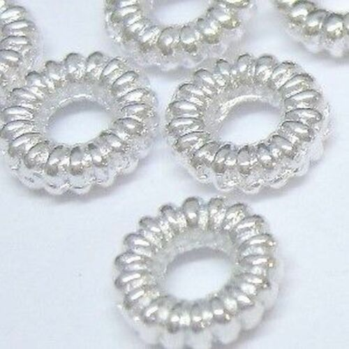 A0457 100 x Silver Color Twist Alloy Connector Rings Findings