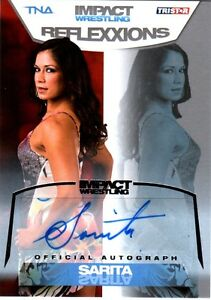 TNA-Sarita-2012-Reflexxions-SILVER-Authentic-Autograph-Card-SN-33-of-99