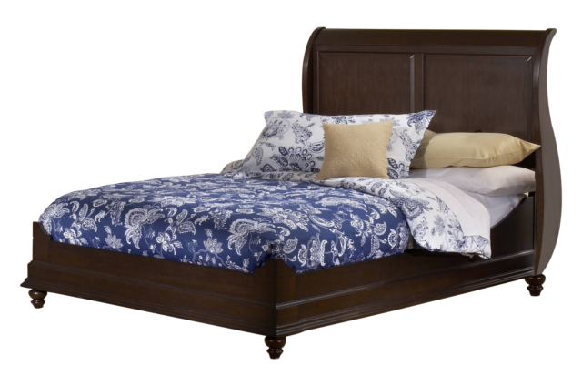 Kings Brand Furniture Master Cherry Finish Wood Queen Size Bed