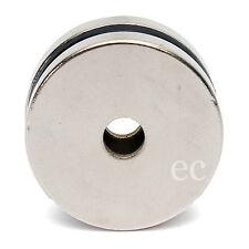 (paquete de 1) 30mm X 3mm Ronda Disco Fuerte NdFeB Imán de Neodimio con agujero de 5mm