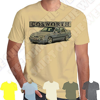 Moonstone Ford Sierra Sapphire Cosworth T-shirt Personal plate 7 colours of Tee
