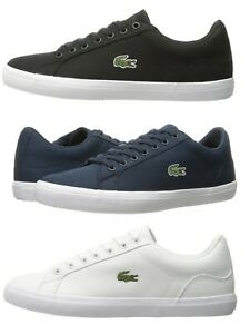Lacoste-Lerond-BL-2-Men-039-s-Casual-Canvas-Loafer-Shoes-Sneakers-Black-Blue-White