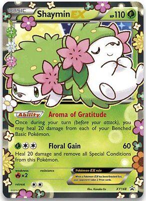 Shaymin-EX Holo Ultra Rare Floral Gain Twin-Art Pokemon Card Promo XY148 MINT
