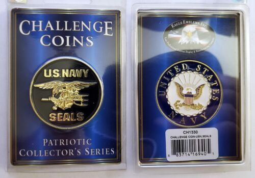 UNITED STATES NAVY USN Seals POKER CHIP CARD GUARD CHALLENGE COIN 4 cm Steel New