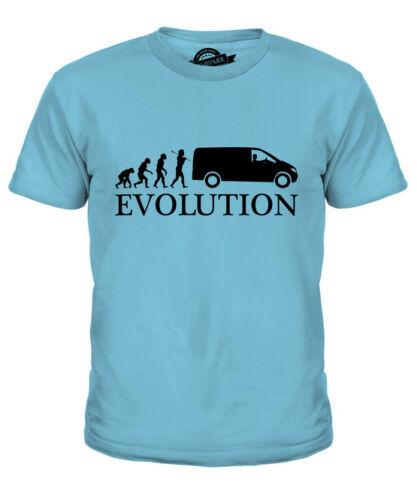 VAN DRIVER EVOLUTION KIDS T-SHIRT TEE TOP GIFT ACCESSORIES JOBS