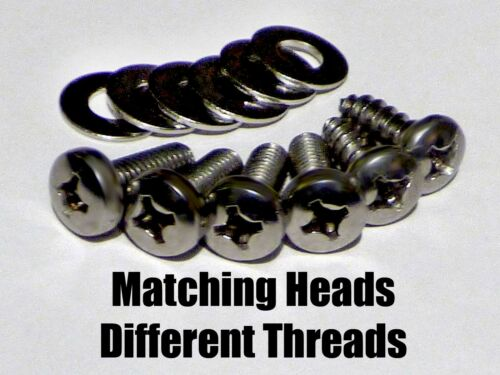 + 2 Screws Stainless Steel License Plate Bolts 4 for Honda /& Acura 4 + 2