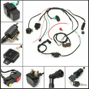 50CC-110CC CDI WIRE HARNESS STATOR ASSEMBLY WIRING KIT FOR ...