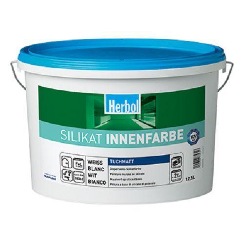 Herbol Silikat Innenfarbe  12.5L die atmunksaktive für ein gesundes Wohnklima