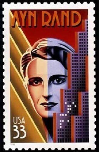 1999 33c Ayn Rand, Writer, Atlas Shrugged Scott 3308 Mi