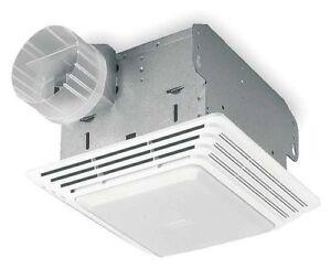 Bathroom exhaust fan ratings - Broan 678 Bathroom Exhaust Fan 8 Quot L X 8 1 4 Quot W Lighted 120v