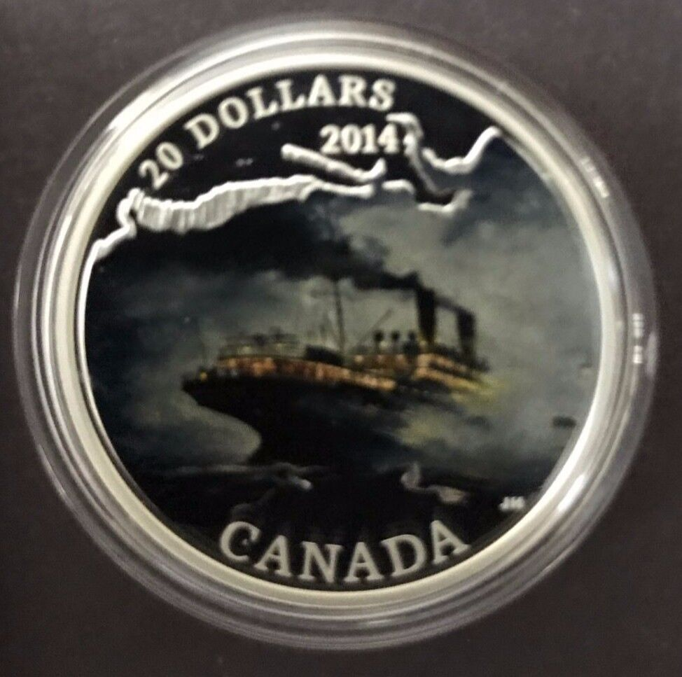 Canada 2014 50C RMS Empress of Ireland Lost Ships Canadian Waters Color /& Silver