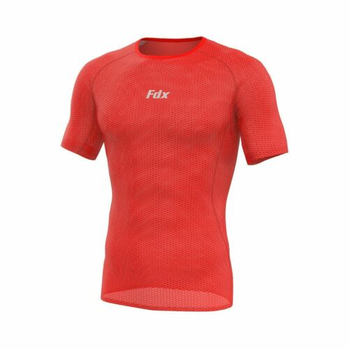 FDX Mens Half Sleeve Cool Mesh Base Layer Lightweight Running Cycling jersey//Top