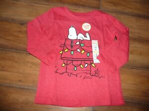 NEW-NWT-Jumping-Beans-boys-24-months-Snoopy-Christmas-red-shirt
