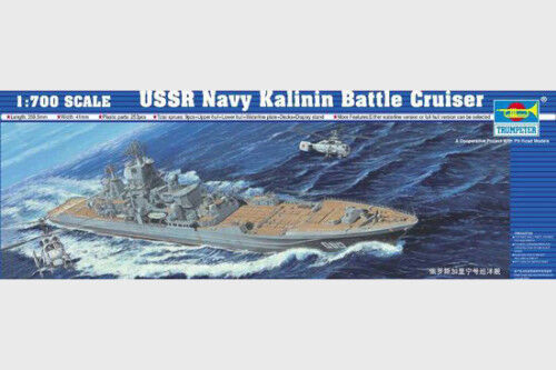 05709 Trumpeter 1 700 Model USSR Navy Kalinin Battle Cruiser Combat Ship Static