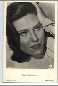 ANNA-DAMMANN-Schauspielerin-ca-1950-60-Portraet-AK-Film-Buehne-Theater-Postkarte